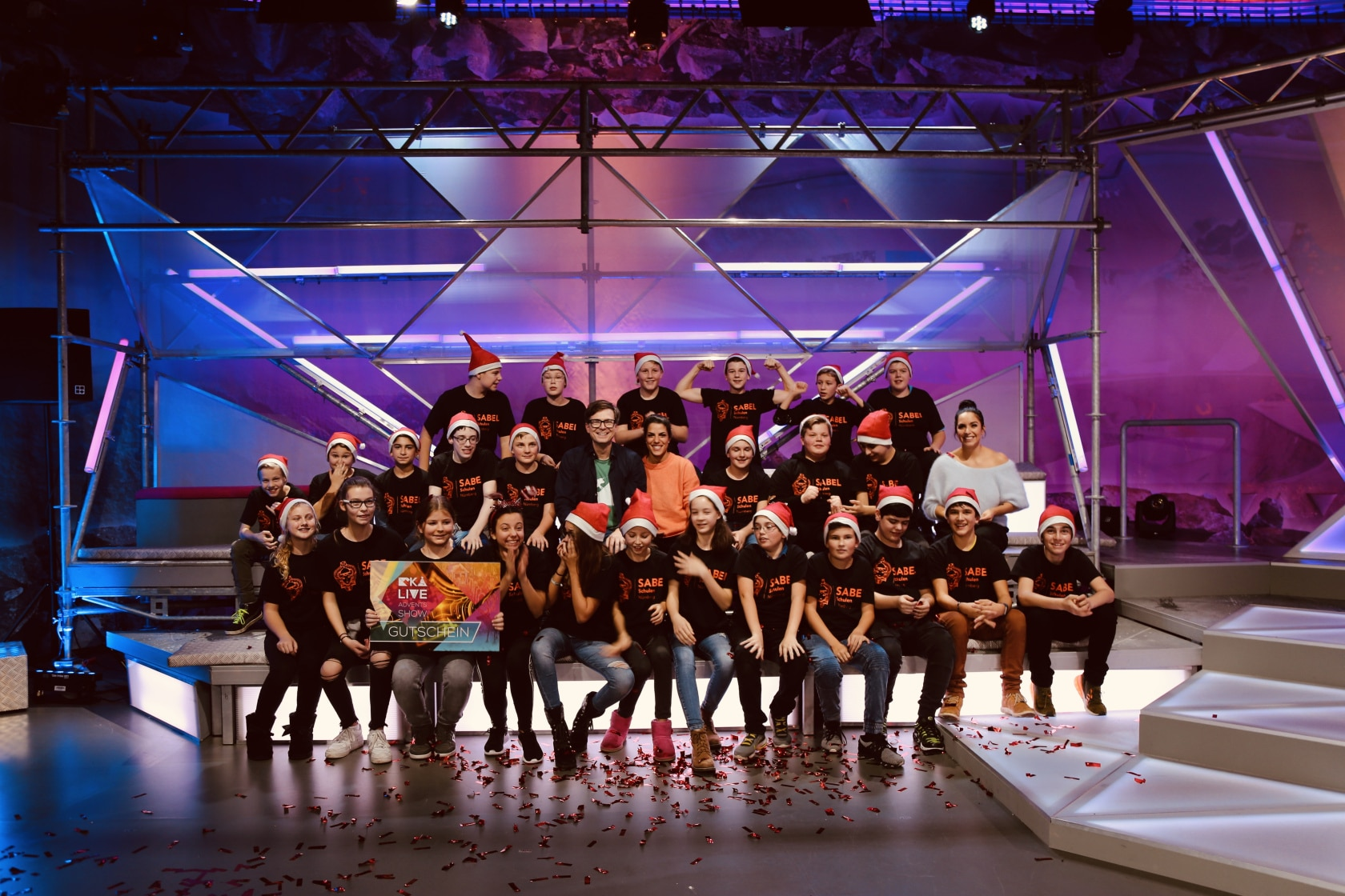 Schüler der SABEL Realschule sind Sieger der KIKA Adventsshow