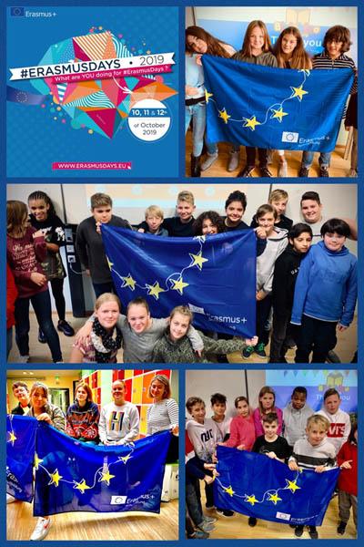 Schüler der SABEL Schulen Nürnberg präsentieren ihre Arbeit während der Erasmus Days