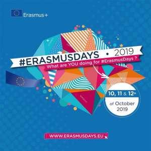 Plakat für die ErasmusDays 2019 - mit dabei sind auch die SABEL Schulen Nürnberg