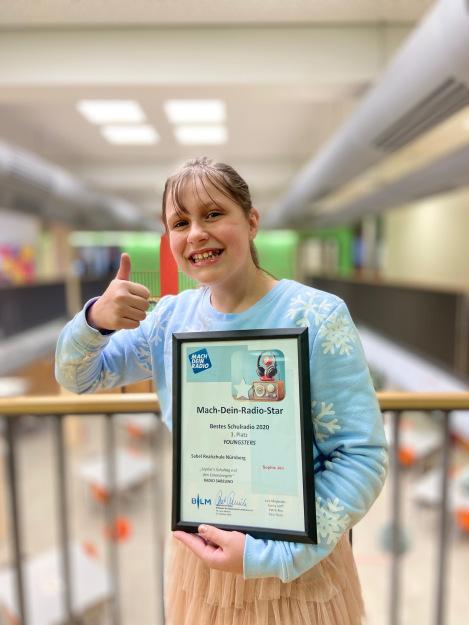 """Sophie aus der R5b gewinnt den 3. Preis bei """"Mach-Dein-Radio-Star"""""""